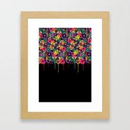 Flowers Melting Framed Art Print