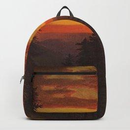 'Dramatic Sunset, Yosemite' landscape painting by Gilbert Munger Backpack