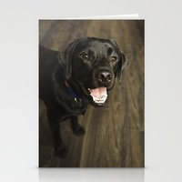 lab Stationery Cards featuring Black Lab by Every Dog Has a Story