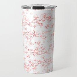 Red pohutukawa pattern Travel Mug