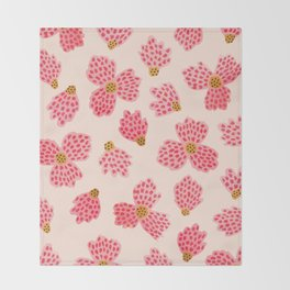 Painted Floral No. 22 Throw Blanket