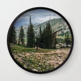 Wasatch Mountains, Utah Wall Clock
