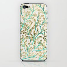 Green & Gold Branches iPhone & iPod Skin