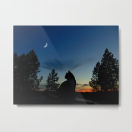 Warrior Cats - Silhouette Metal Print