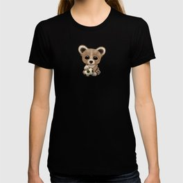 Cute Baby Bear With Football Soccer Ball T-shirt