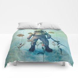 Deep Sea Garden  Comforters
