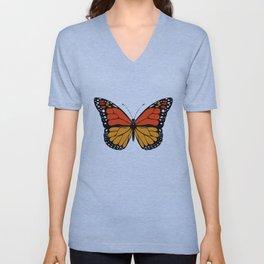 Monarch butterfly Unisex V-Neck