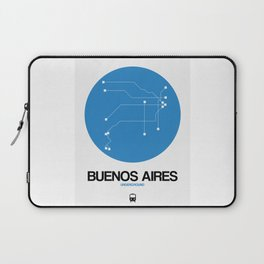 Buenos Aires Blue Subway Map Laptop Sleeve