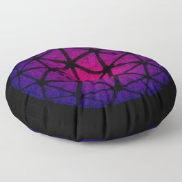 Purple Crystal Lavender Happy New Year Ball New York City New Year's Eve Floor Pillow