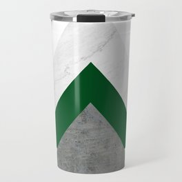 Marble Green Concrete Arrows Collage Travel Mug