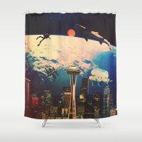 future Shower Curtains featuring Future. by Daniel Montero