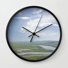 Yellow River in Sichuan, China Wall Clock