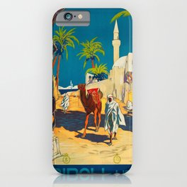 Vintage poster - Tripoli iPhone Case