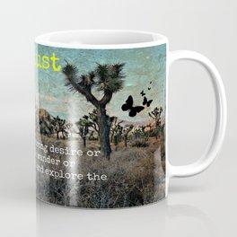 Wanderlust In The Wild Travel Quote Coffee Mug
