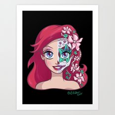 Sugar Skull Series: Underwater Princess Art Print