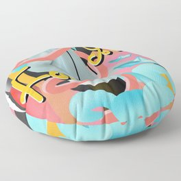 Forever young illustration Floor Pillow