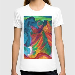 Swiss Alps Mount Weissfluh above Davos landscape painting by Ernst Ludwig Kirchner T-shirt