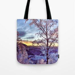 Icy Forest Awakens Tote Bag