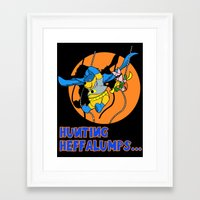 pooh Framed Art Prints featuring Bat Pooh! by Purple Cactus