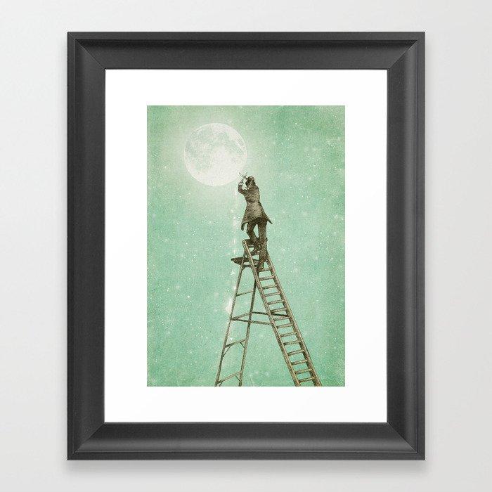 Waning Moon Framed Art Print