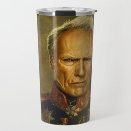 Clint Eastwood - replaceface Travel Mug