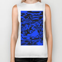 blue and shadow Biker Tank