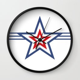 Stars & Stripes Kapow Wall Clock