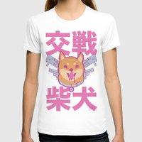 shiba inu T-shirts featuring Battle Shiba Inu by ChangBaby