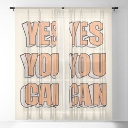Yes You Can Sheer Curtain