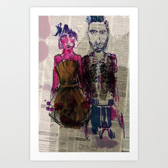 AA Couple Art Print