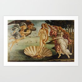 The Birth of Venus by Sandro Botticelli Art Print