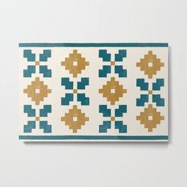 Geometric Floral Pattern Metal Print