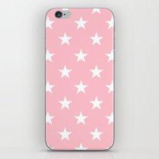 Stars (White/Pink) iPhone & iPod Skin