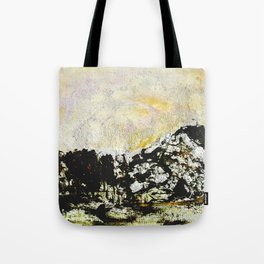Golden mountains Tote Bag