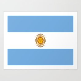 Flag of argentina -Argentine,Argentinian,Argentino,Buenos Aires,cordoba,Tago, Borges. Art Print