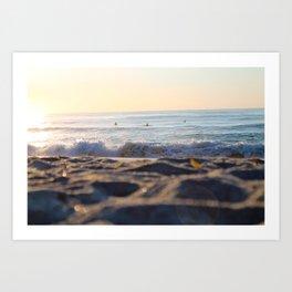 Surfers in the Morning Light Art Print