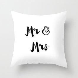 Mr & Mrs Throw Pillow