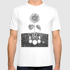 Prāṇa (Life Force) MEDIUM White Mens Fitted Tee