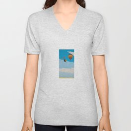 Four Hot Air Balloons Unisex V-Neck