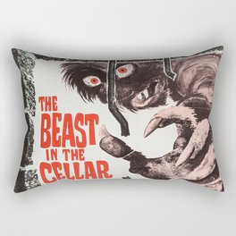 The Beast in the Cellar, vintage horror movie poster Rectangular Pillow