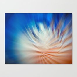 Abstract blurred light Canvas Print