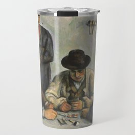 The Card Players Travel Mug