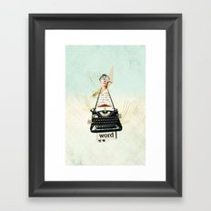 Word Framed Art Print