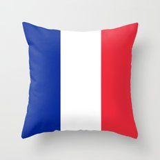 France / French Flag / Drapeau Throw Pillow