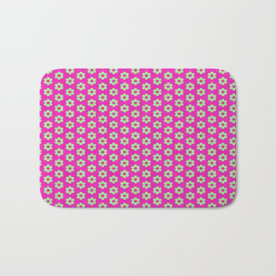Hot Pink Plaid Mint Green Flower by apgme