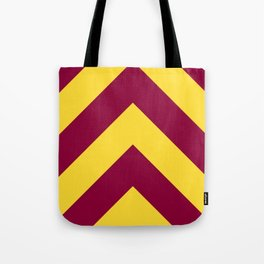 Sunnydale High Chevron (Maroon & Gold - #8A0034 x #FFDC32) Tote Bag