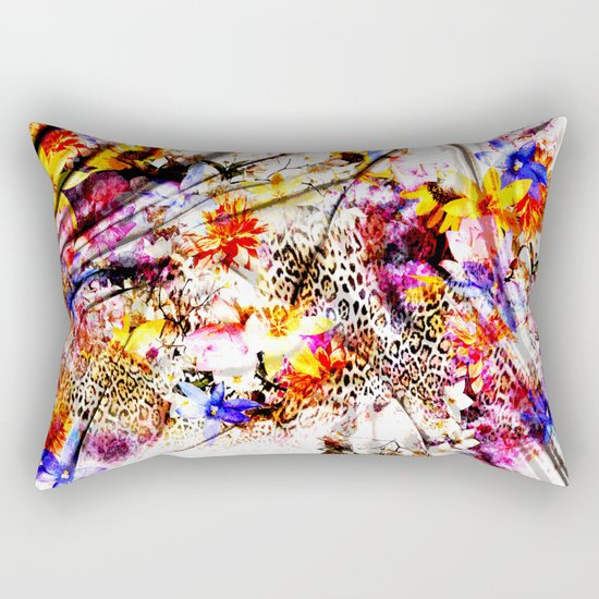Tiger flower Rectangular Pillow