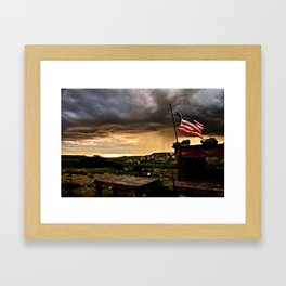 """""""And Our Flag Was Still There..."""" Framed Art Print"""