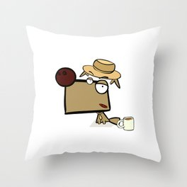 "Dialog with the dog N52 - ""Detective"" Throw Pillow"
