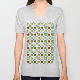 new polka dot 12 - multicolor Unisex V-Neck